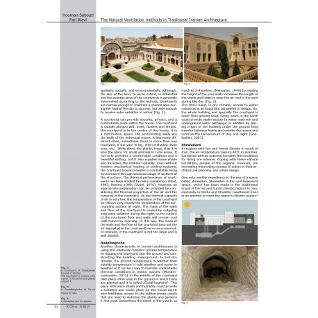 The Natural Ventilation methods in Traditional Iranian Architecture