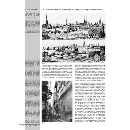 Old Town Restoration in Germany and in Europe until the Beginning of World War II. A reminding of reasons and methods